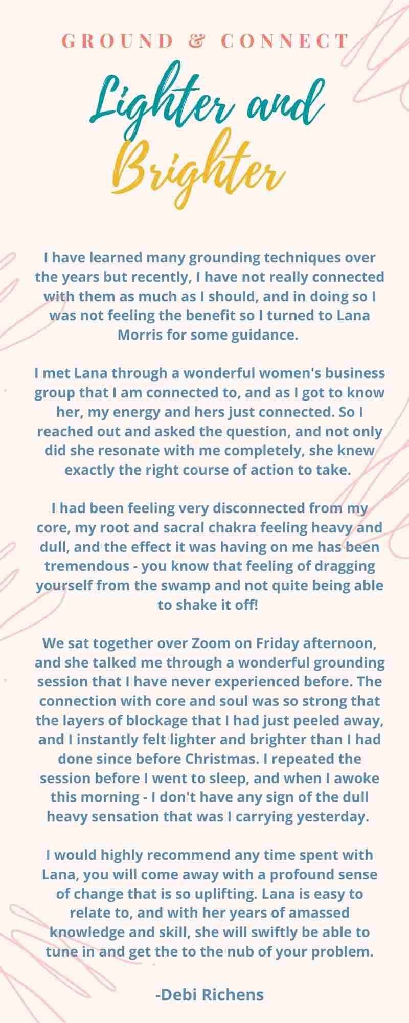 Copy of Testimonial from Debi Richen